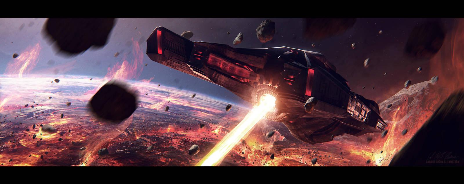 Hades' Star - Cerberus Destroyer by GabrielBStiernstrom