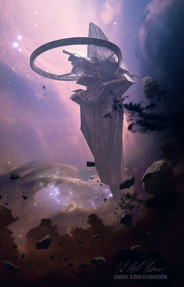 Isaac Asimov - Foundations Trilogy | Cover Art by GabrielBStiernstrom