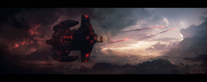 Hades' Star - Cerberus Bomber by GabrielBStiernstrom