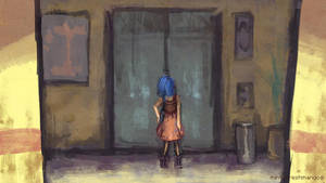 SketchADay: 41 Waiting. by mintyfreshmangos