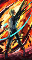 SketchADay: 46 Fire by mintyfreshmangos