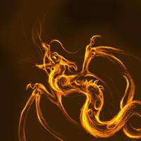 fire dragon sketch by zankara