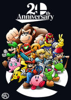 Super Smash Bros 20 Anniversary by SuperAlfredoUniverse