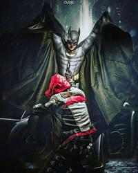 Batman vs Red Hood cosplay  - Come at me! by Tenraii