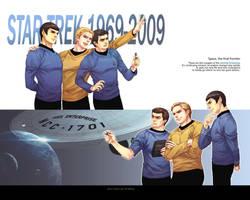 Star Trek-wallpaper of OT3 by Athew