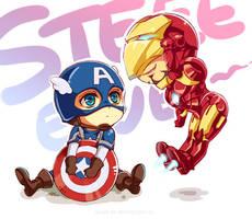 Marvel-Steve and Tony by Athew