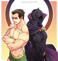 Marvel-Namor and Black Panther by Athew