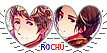 APH RoChu Heart Couple Stamp by World-Wide-Shipping
