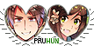 APH PruHun Heart Couple Stamp by World-Wide-Shipping