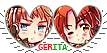 APH (Nyo)GerIta Hearts Couple Stamp by World-Wide-Shipping