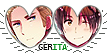 APH GerIta Hearts Couple Stamp by World-Wide-Shipping