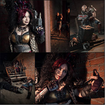 Meanwhile on Necromunda: Warhammer 40000 Cosplay 3 by alberti