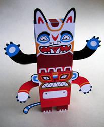 Totem Tyson Paper Toy by creaturekebab