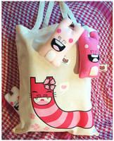 Snake Kitty Shopper Bag by creaturekebab