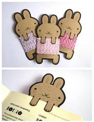 Cottontail Bakers Twine Bunnies by creaturekebab