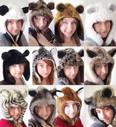 Animal Hoods by creaturekebab