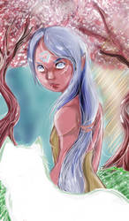 Elfgirl Background by Noodlecuppie