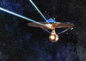 Enterprise Firing Phasers by Robby-Robert