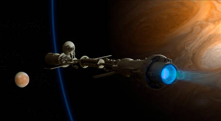 Slingshot around Jupiter by Robby-Robert