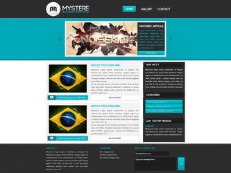 Mystere - WordPress Blog by arkgrafik