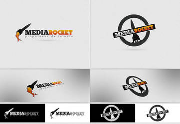 MEDIAROCKET Logo proposals by arkgrafik