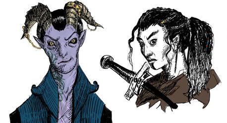 Mollymauk and Yasha by TheWolverineCello