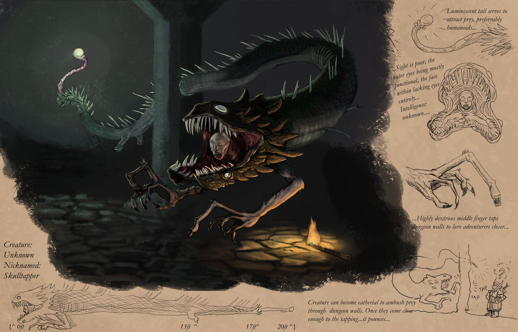 DnD Monster Creation Submission- Skulltapper by TheWolverineCello