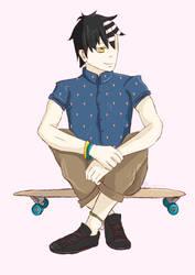Hipster AU: Kid by everglowe