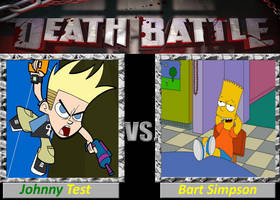 Johnny Test vs. Bart Simpson by cartoonfan22