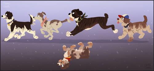 Stranger Pups by Rainie-Painie