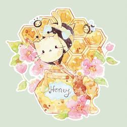 C: honey kitten by Melonkitten
