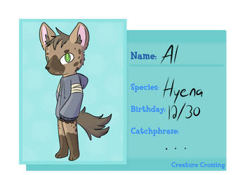 [Creature Crossing] - Al | Hyena by i-Sparki