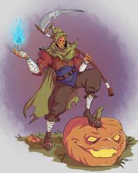 pumpkin warrior by Leikdaz22