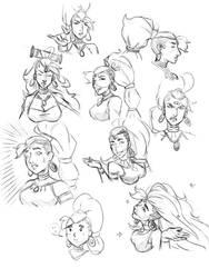 Damayanti Sketches by Leikdaz22