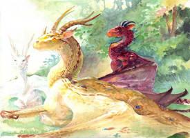 Dragons by melukilan