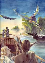 Pegasus watercolor by melukilan