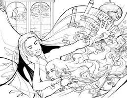 Kastor and Mikah inks by melukilan