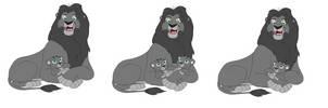Lion base 15 by DragonFireNight