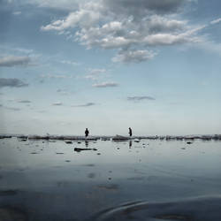 Fishermen On the Ice Floe by intao