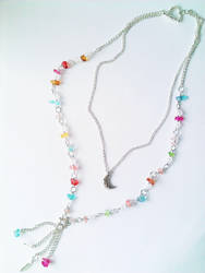 Double Strand Glass Beads and Charms Necklace by soophieO