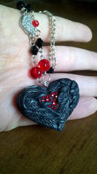 Angel Wings the Heart Within Pendant by soophieO