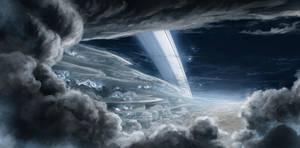 Stormy Saturn night by JustV23
