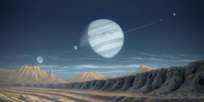 Desert moon by JustV23