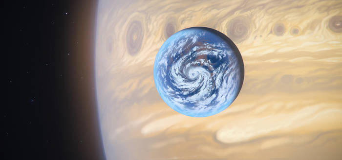 Earth-like moon by JustV23