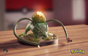 Bulbasaur collectible / lamp version by EdgarGomezArt