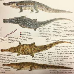 Cretaceous Crocodilians by PrehistoryByLiam