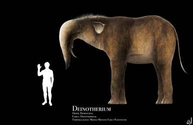 Deinotherium by PrehistoryByLiam