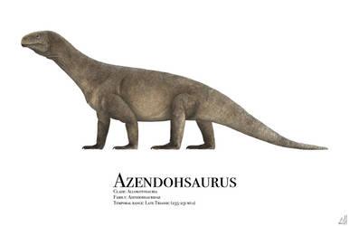 Azendohsaurus by PrehistoryByLiam