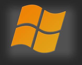 windows logo orange by ironcobraart570