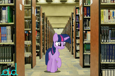 Twilight Sparkle in the Library irl by ActionDash